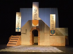 The finished set ready for The Count of Monte Cristo