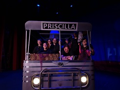 Crew on set of Priscilla Bus